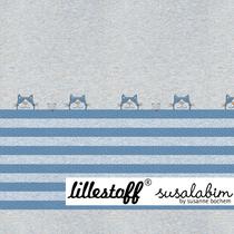 Tigerkatze blau Panel 90cm
