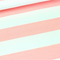 Blockstreifen weiß/rosa