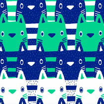 Cats blue/green