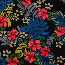 Hibiscus auf schwarz