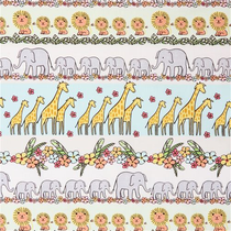 Jungle Animals Stripe