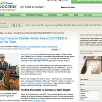 """Dieses Bild von Chester Weber konnte ich für die Nutzung auf der """"Succeed Equine"""" Webseite sogar nach Amerika verkaufen :-)"""