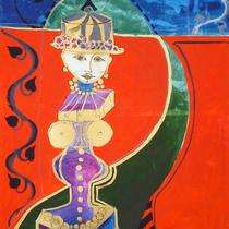 1989, EMMI AUF REISEN, 100 x 140, Öl und Acryl