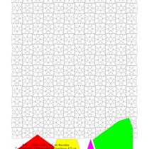 Φ Phi Islamic Star 4,5 cm Mandala     (die vier EPP Schablonen sind auch dabei)