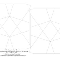 Φ Phi Islamic Star 45 mm  Die EPP Schablonen für zwei Blöcke