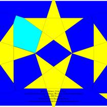 Φ Phi Islamic Star 4,5 cm