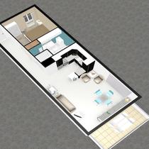 Plan en 3D vue sud-ouest