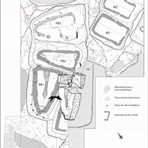 Fig. 5/ Plan de la zone des carrières fouillée
