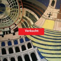 ROME uit de serie Stadssonnetten - acrylverf op doek -  90 x 120  - houten baklijst - verkoopprijs € 1195
