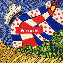 AMELAND uit de serie Friese eilanden - acrylverf op doek - 30 x 30 - verkoopprijs € 150