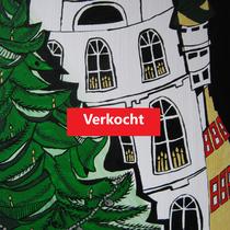 WINTERWARMTE -  acrylverf op doek - 60 x 50 - houten baklijst - verkoopprijs € 450