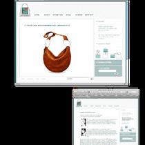 Lawratutti Handtaschen. Selbst gestaltet, entwickelt und programmierte (Dreamweaver) Website von 2008.