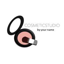 Logo für Kosmetikstudio: Puderdose
