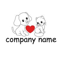 Logo für Tierschutzverein und Tierpension: Hund und Katze
