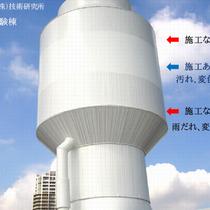 塗装塗膜での帯電防止/超親水曝露試験