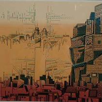 WELL' ST NEW YORK  シルクスクリーン ed 1/100  63×63
