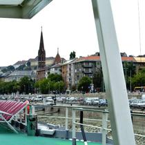 Budapest | Sicht auf den Burghügel | Burgpalast, links.