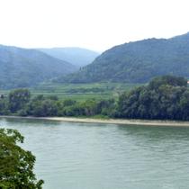 Dürnstein | Blick über die Donau in die Wachau.