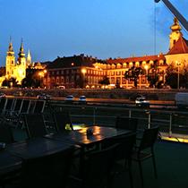 Budapest | Abendlicher Blick vom «MS My Story»-Sonnendeck.