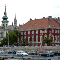 Budapest | «MS My Story»-Sonnendeck | «Teleblick» Richtung Burghügel.