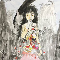 somewhere over the rainbow 2018   F8 45.5×38.0cm  Water Color Somewhere over the Rainbow