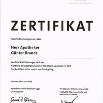 Zertifikat   Marien-Apotheke Reken