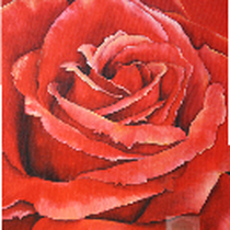 Original: Country-LebensArt, BriSch, Rote Rose Detail