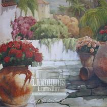 Original: Country-LebensArt, BriSch, Mural, Wandbild (Detail) links im Poolhaus (Acryl auf Ytong-Mauer)
