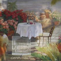 Original: Country-LebensArt, BriSch, Mural, Wandbild Detail, rechts im Poolhaus (Acryl auf Ytong-Mauer)