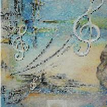 Original: Country-LebensArt, BriSch, Noten fuer den Pianisten, Detail, vergeben (Ölpastell)
