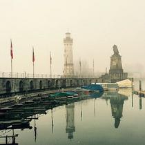 BRM 200 BODENSEE+: Lindau hat auch bei Nebel seinen Reiz