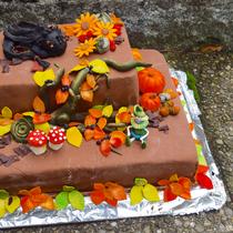 Herbstliche Geburtstagstorte für meine Schwester