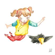 """Fina"" Kinderbuchprojekt, 2015 - © Lisa »Miss Felidae« Arnberger"