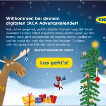 IKEA Adventskalender-App 2018 - Rezept-Screen: Grafik- und UI-Design unter Einhaltung des CI und der Verwendung bestehender Illustrationen; © IKEA / Oetinger Corporate