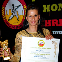 Hall of Honours München 2014 Instructor of the year