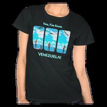 Camiseta Yes, I'm from Venezuela, alimentando las tijeretas en Morrocoy, Venezuela