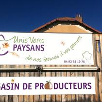 Création des enseignes pour le groupement de producteurs Unis verts Paysans à Forcalquier