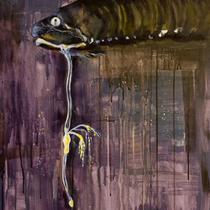 Schwarzangler l Acryl auf Leinwand l 60x80 cm