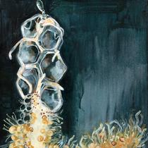 Staatsqualle No.2 l Acryl auf Leinwand l 40x40 cm