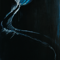 Stachelbeerqualle l Acryl auf Leinwand l50x100 cm