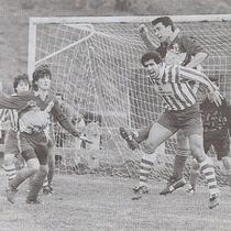 Derby Salleko-Laudiotarrak, jugado en el campo de Okondo el 12 de febrero de 1995. Ganaron los rojiblancos 1-2 gracias a los goles de Igor Núñez y Gordon.
