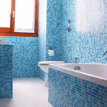 Bogno in mosaico pasta di vetro mix azzurro