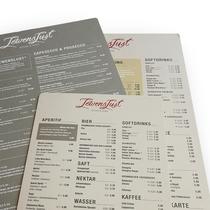 Speisekarten mit Papierkaschierung LewensLust Deutschland