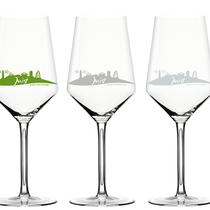 Weingläser mit Branding