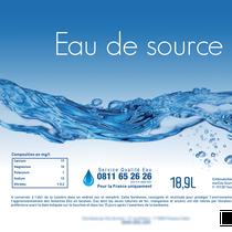 Etiquette bonbonne eau