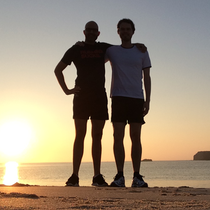 Running at Martinhal Beach