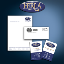 Herla: Logo Design, Geschäftsausstattung