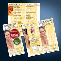 Kosmetik-Praxis: Flyer, Logo etc.