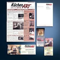 KüchenART: Newsletter/Zeitung, Anzeigen, Briefbogen, Flyer