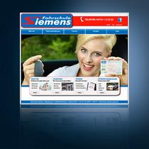 Webseite Fahrschule Siemens: www.fahrschule-siemens.com